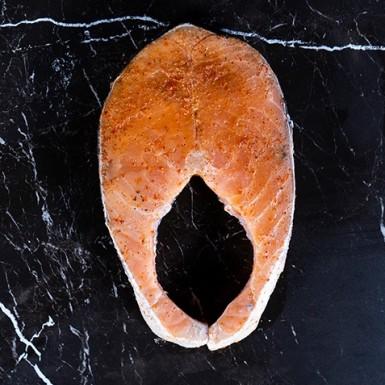 Маринованный стейк семги